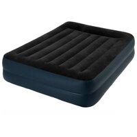 Надувная кровать Intex 64124 Pillow Rest Raised Bed (152х203х42 см, эл. насос)