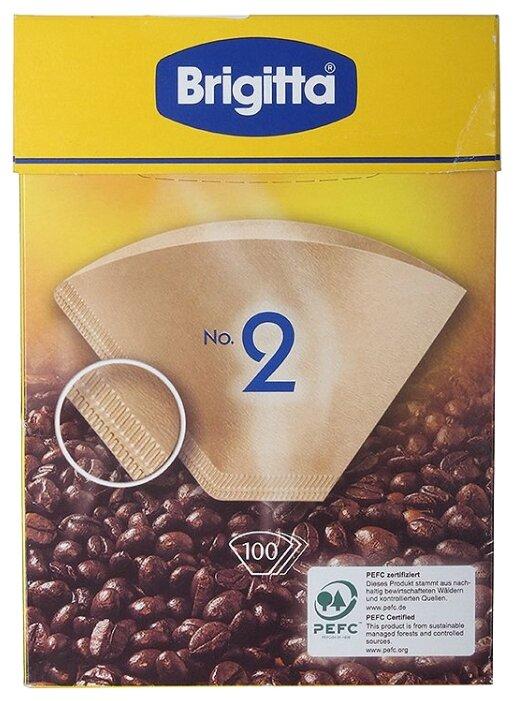 Одноразовые фильтры для капельной кофеварки Melitta Brigitta Размер 2