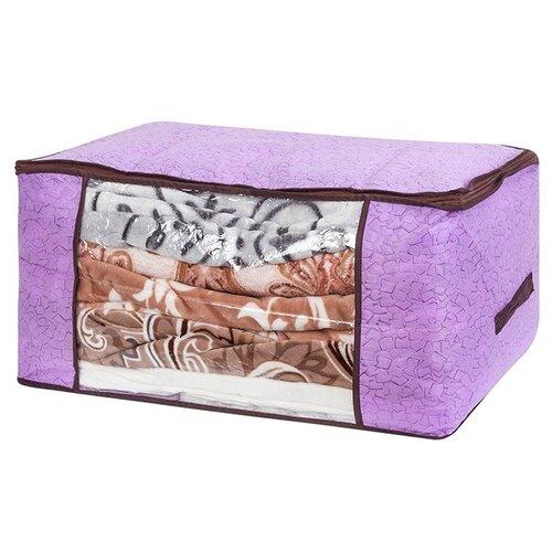 EL CASA Кофр складной Сиреневая мозаика 60х45х30 см сиреневая мозаика кофр для хранения el casa плетение 35 30 20 см коричневый