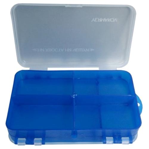 Коробка для приманок для рыбалки HELIOS двусторонняя 14х8х4см синий