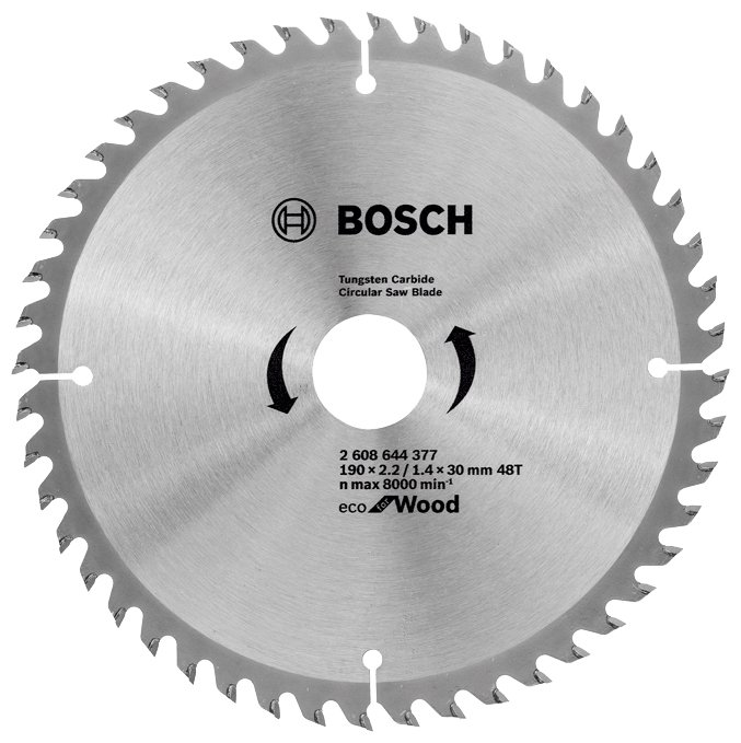 Пильный диск BOSCH Eco Wood 2608644377 190х30 мм