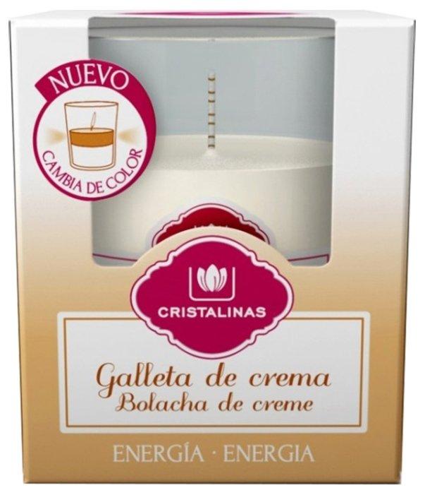 CRISTALINAS Свеча ароматическая двухцветная Печенье со сливками, 20 часов