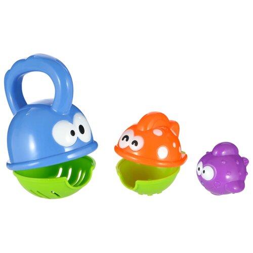 Купить Игрушка для ванной Жирафики Голодные рыбки (939557) разноцветный, Игрушки для ванной