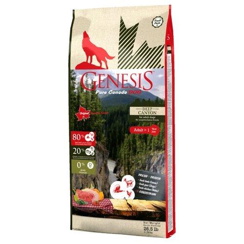 Фото - Корм для собак Genesis (11.79 кг) Deep Canyon Adult с курицей, ягненком и козой genesis genesis pure canada deep canyon adult для взрослых собак всех пород с курицей ягненком и козой 907 г