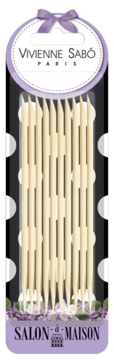 Vivienne Sabo Деревянные палочки для маникюра, 10 шт.