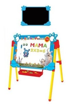 Доска для рисования детская Наша игрушка двухсторонняя с аксессуарами (R009T)