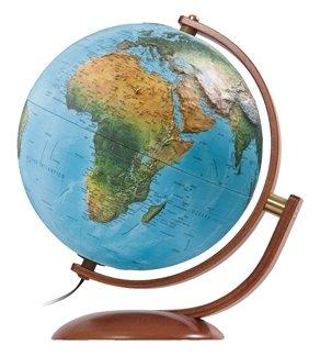 Глобус на деревянной подставке диаметр 37 см с подсветкой Nova Rico MAXIMUS 37 CM