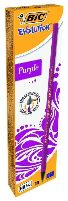 BIC Набор чернографитных карандашей Evolution Purple 12 шт (901737)