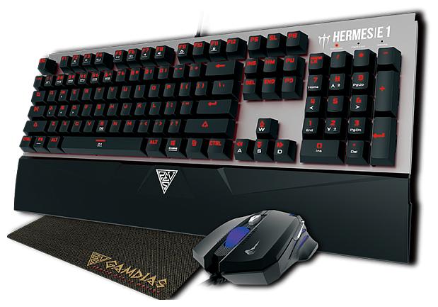 GAMDIAS Клавиатура и мышь GAMDIAS HERMES E1 + DEMETER E2 + NYX E1 Black USB