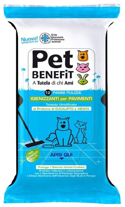 Салфетки Pet Benefit Очищающие влажные для уборки за животными 12 шт/уп
