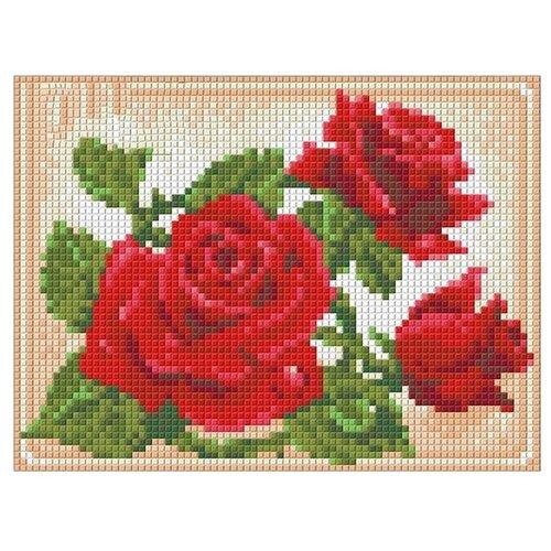 Купить Алмазная живопись Набор алмазной вышивки Молодая роза (АЖ-1446) 20х15 см, Алмазная вышивка