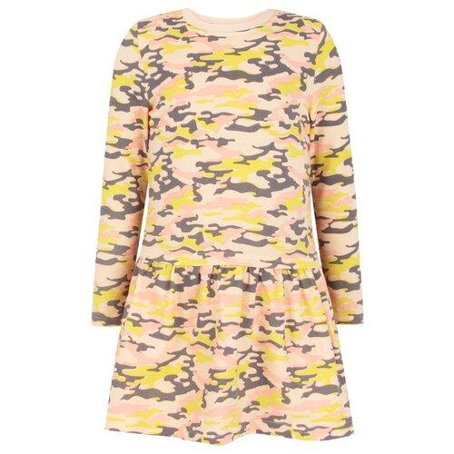 Купить Платье KotMarKot размер 104, розовый милитари, Платья и сарафаны