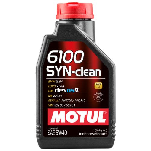 Моторное масло Motul 6100 SYN-clean 5W40 1 л