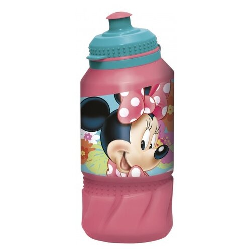 Бутылка для воды, для безалкогольных напитков Stor спортивная 0.42 пластик Минни Маус Цветы