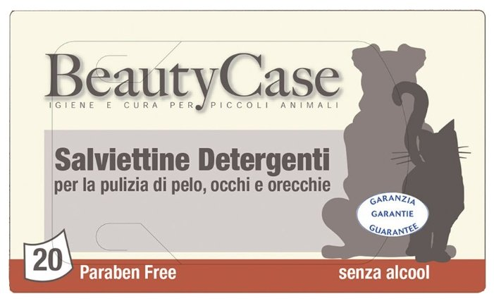 Салфетки Beauty Case для чистки глаз, ушей, шерсти для кошек и собак