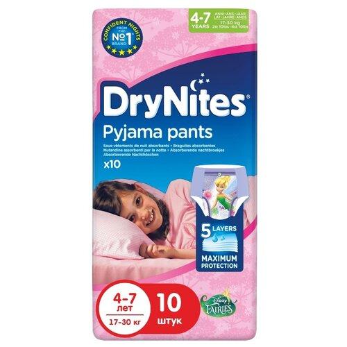 Huggies трусики Феи DryNites для девочек 4-7 (17-30 кг) 10 шт.Подгузники<br>