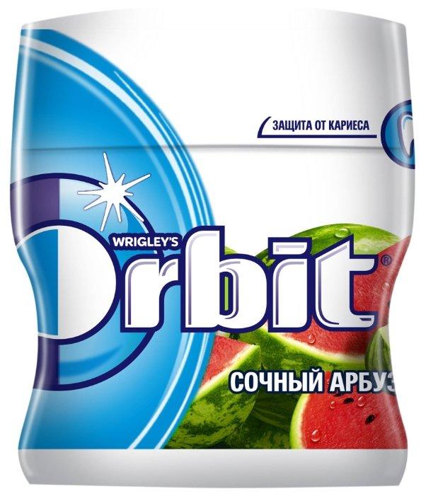 Жевательная резинка Orbit Сочный арбуз, без сахара, банка 54.4 г