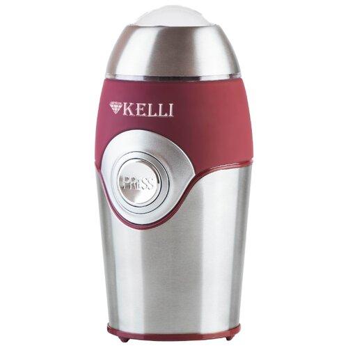 Фото - Кофемолка Kelli KL-5054, серебристый/бордовый кофемолка
