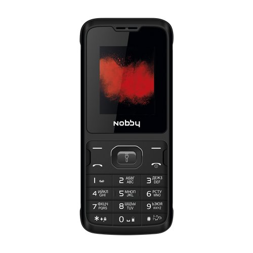 Телефон Nobby 110 черный / серый