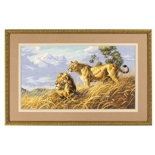 Купить Dimensions Набор для вышивания крестиком Африканские львы 46 х 25 см (03866), Наборы для вышивания