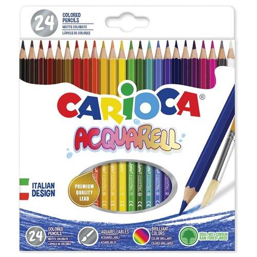 Купить Carioca набор цветных карандашей Acquarell 24 цвета (42858), Цветные карандаши
