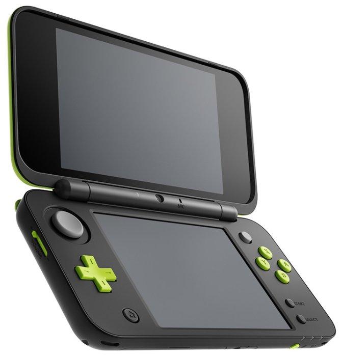 Игровая приставка Nintendo New 2DS XL черный/лайм + Mario Kart 7
