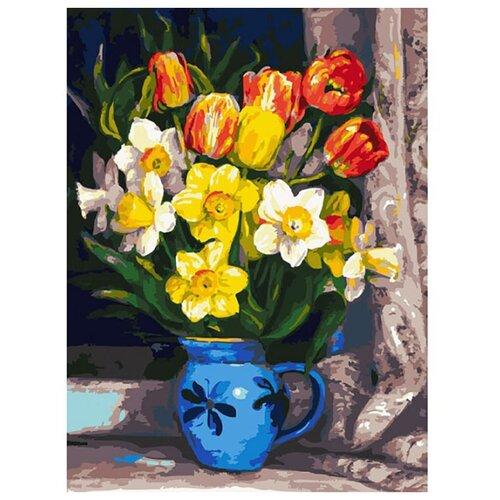 Купить Белоснежка Картина по номерам Тюльпаны 30х40 см (229-AS), Картины по номерам и контурам