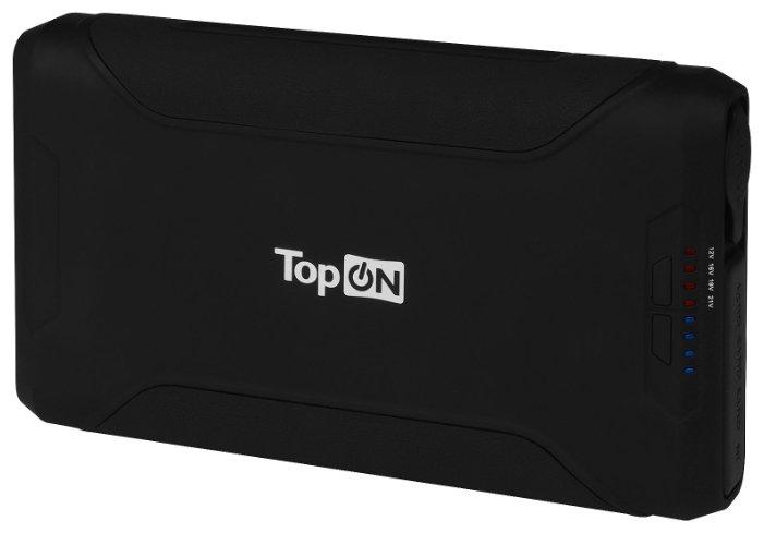 TOP-X72 Внешний аккумулятор TopON TOP-X72 72000mAh 2 USB-порта, автомобильная разетка 180W, набор для зарядки ноутбуков, аварийный свет, фонарь. Черный