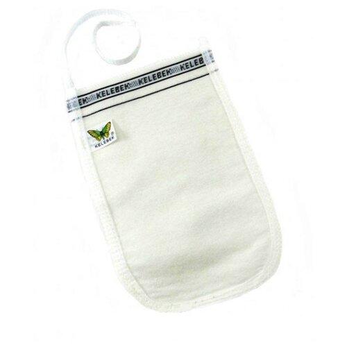 Мочалка Kelebek Kese рукавица мягкая белый