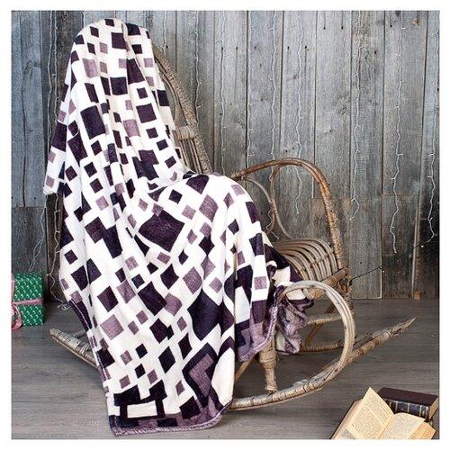 Плед Традиция Амели Клетка облегченный, 150 x 200 см капучино/бежевыйПледы и покрывала<br>