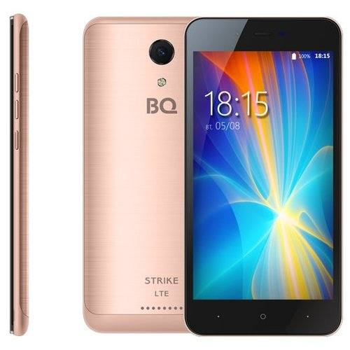 Смартфон BQ 5044 Strike LTE розовое золото смартфон