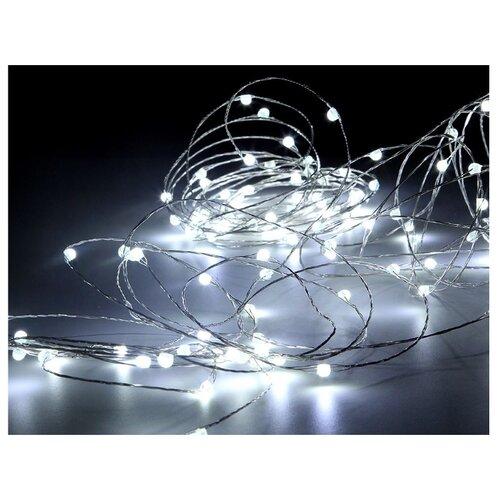 Гирлянда Sh Lights Нить,120 диодов, 1200 см, 120 ламп, белые диоды/прозрачный провод