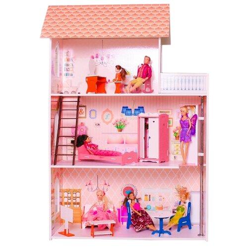 Купить SunnyToy кукольный домик Розовая мечта, розовый, Кукольные домики