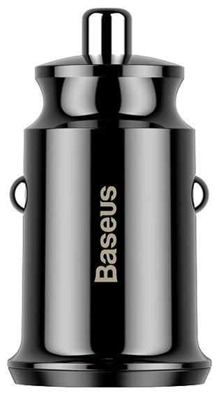 Автомобильное зарядное устройство Baseus Grain (CCALL-ML01) Black (078074)