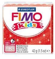 Полимерная глина FIMO kids 42 г блестящий красный (8030-212)