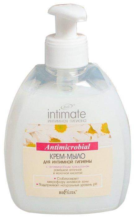 Bielita Крем-мыло для интимной гигиены Intimate с антимикробным триклозаном, 300 мл