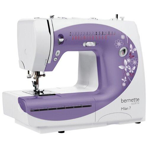 Швейная машина Bernina Bernette Milan 7, бело-фиолетовый