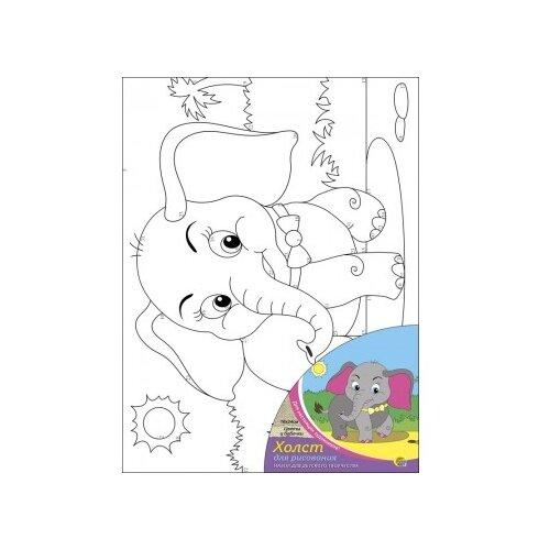 Фото - Рыжий кот Картина по контурам Слоник 18х24 см (Х-1649) рыжий кот картина по номерам винни пух союзмультфильм 18х24 см х 5440
