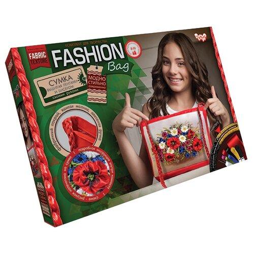 Купить Danko Toys Набор для вышивания лентами и бисером Fashion Bag Цветы (FBG-01-02), Наборы для вышивания