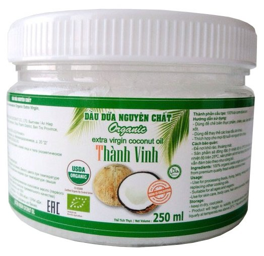 Thanh Vinh Масло кокосовое Organic extra virgin