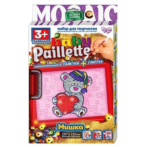 Danko Toys Аппликация из пайеток Baby Paillette Медвежонок PG-01-01 danko toys аппликация цветной фольгой foil art заяц far 01 07