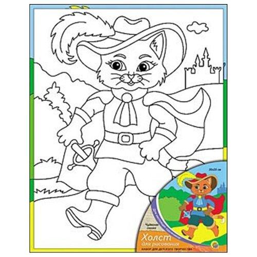 Рыжий кот Картина по контурам Чудесная сказка 20х25 см (Х-0320) рыжий кот картина по номерам маленький ангелочек 30х40 см x 6161