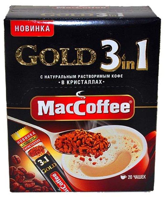 Растворимый кофе MacCoffee Gold 3 в 1, в стиках