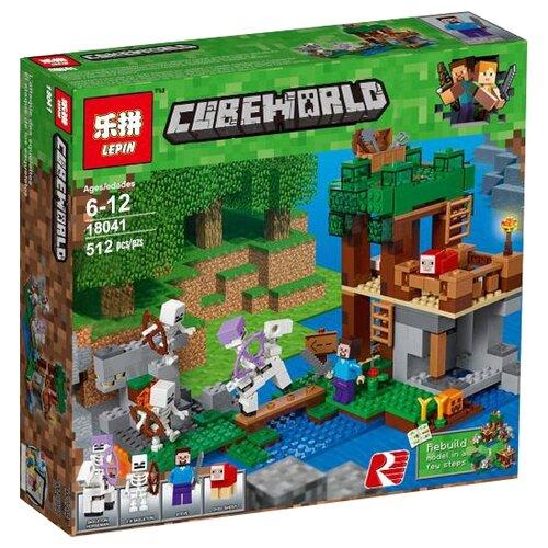 Конструктор Lepin Cubeworld 18041 Нападение армии скелетов конструктор lepin столица 02114