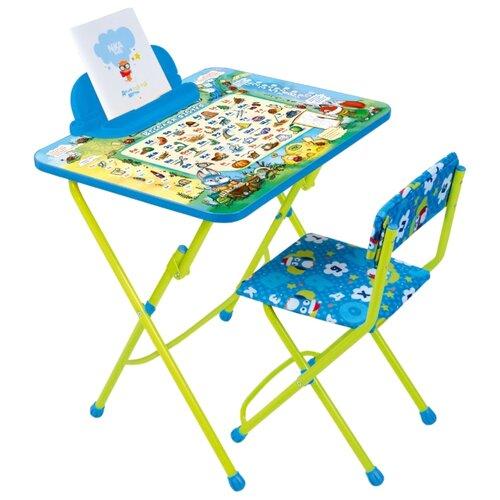 Купить Комплект Nika Веселая азбука (КУ2/ВА) 45x60 см синий/салатовый, Парты и столы
