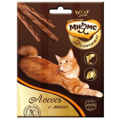 Лакомство для кошек Мнямс Деликатес Лакомые палочки с лососем и манго, 4г х 3шт. в уп. 12 г