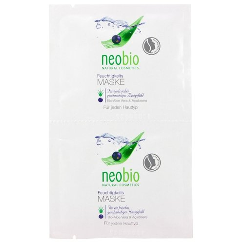 Neobio увлажняющая маска, 7.5 мл, 2 шт.