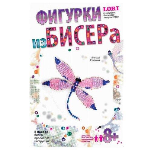 LORI Набор для бисероплетения Стрекоза розовый/синий lori набор для бисероплетения сакура розовый