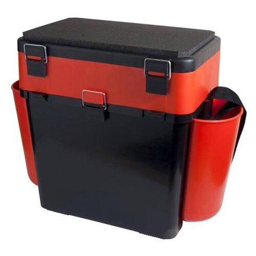 Ящик для рыбалки HELIOS FishBox двухсекционный (19л) 38х25.5х39.5см оранжевый/черный