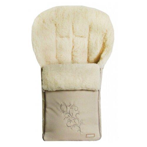 Конверт-мешок Womar Siberia в коляску 95 см 1/2 бежевыйКонверты и спальные мешки<br>